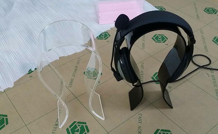 透明亞加力膠耳機架