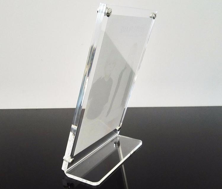 透明L型亞加力膠相架