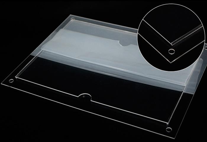 掛墻卡槽透明攝紙架