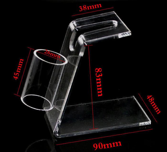 透明L型展示膠架
