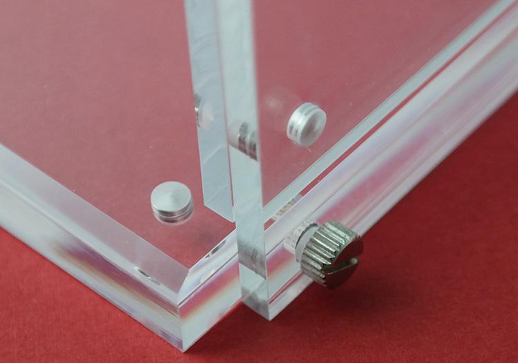 磁石L型展示膠架(可換攝紙)