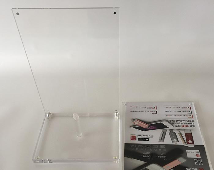 可換畫面L型桌面展示架