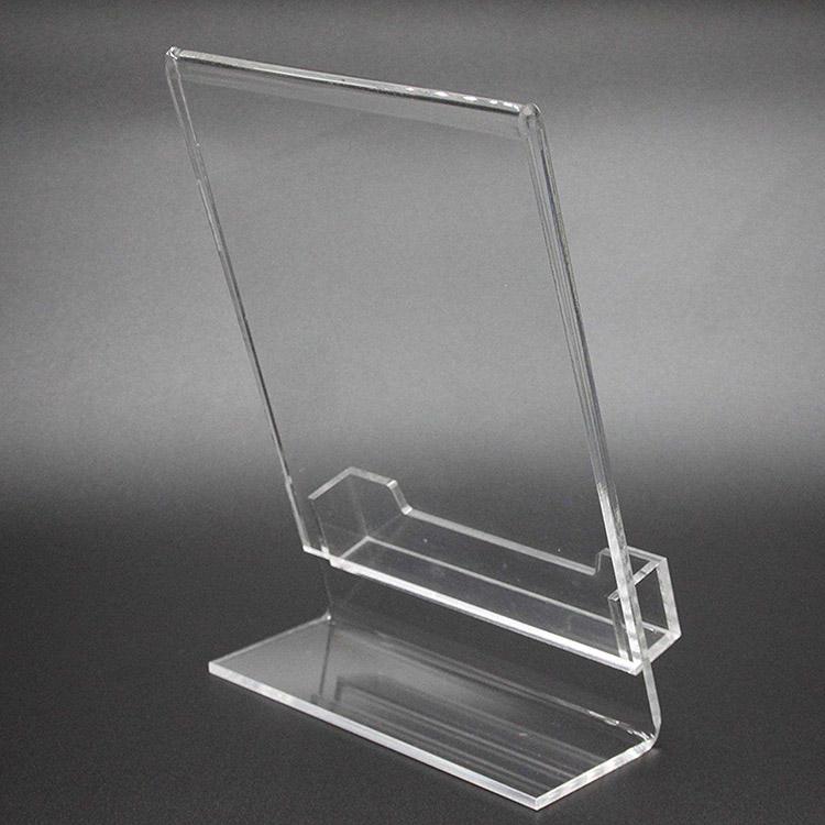 透明L型座檯展示牌