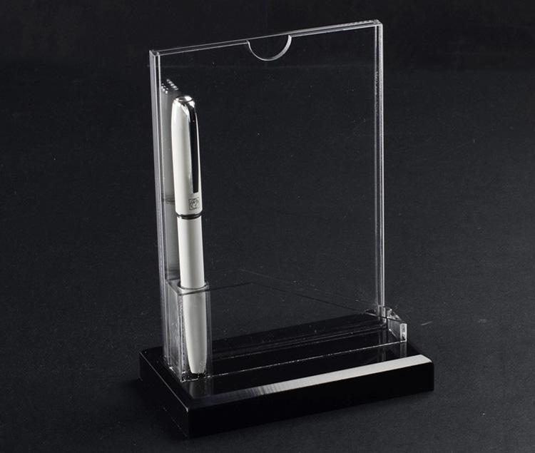 透明T型插咭紙架