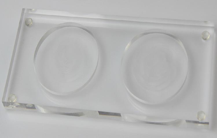開槽透明飲料產品展示架