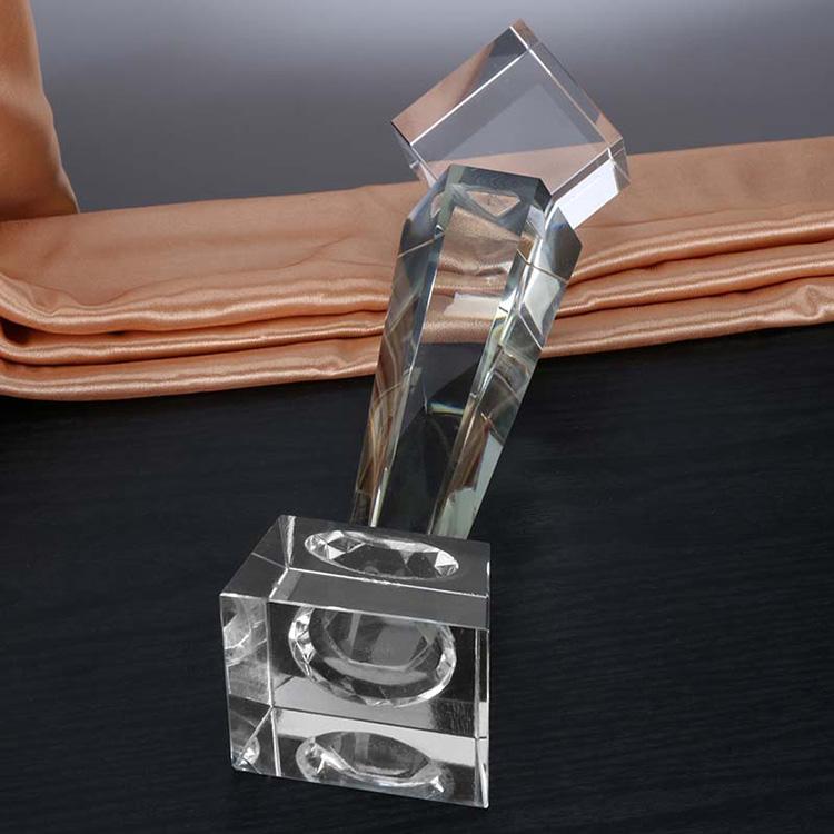 六邊柱魔方水晶獎杯