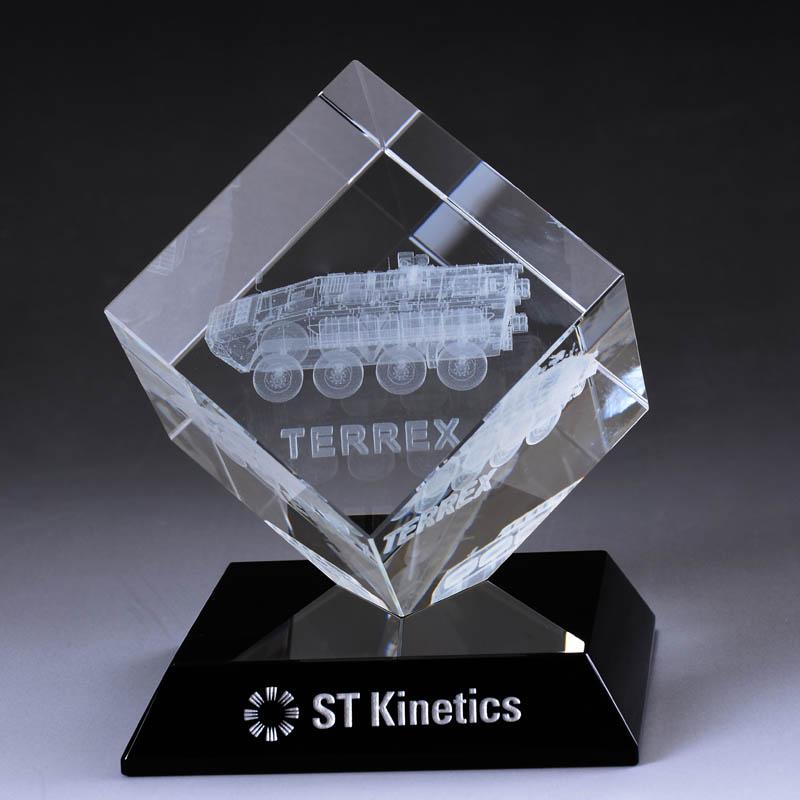 3D激光水晶內雕車模