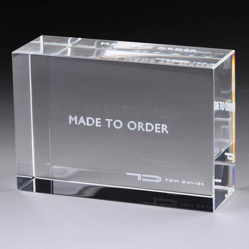 水晶內雕刻文字膠塊