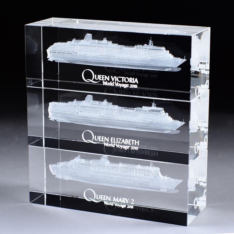 3D水晶內雕船模