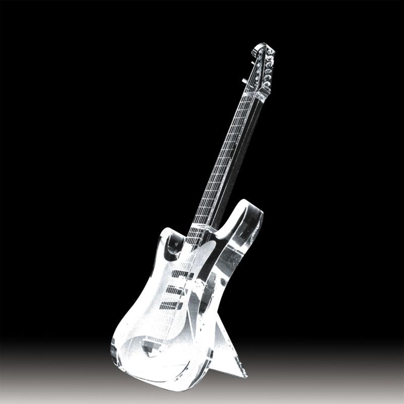 電吉它水晶模型