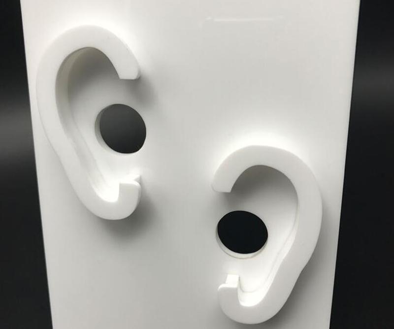 白色螺絲腳耳機膠架