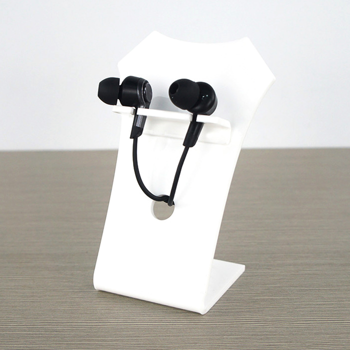 XH0162 白色Z字型耳機展示架