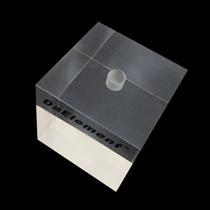 XH0185 絲印logo透明正方塊