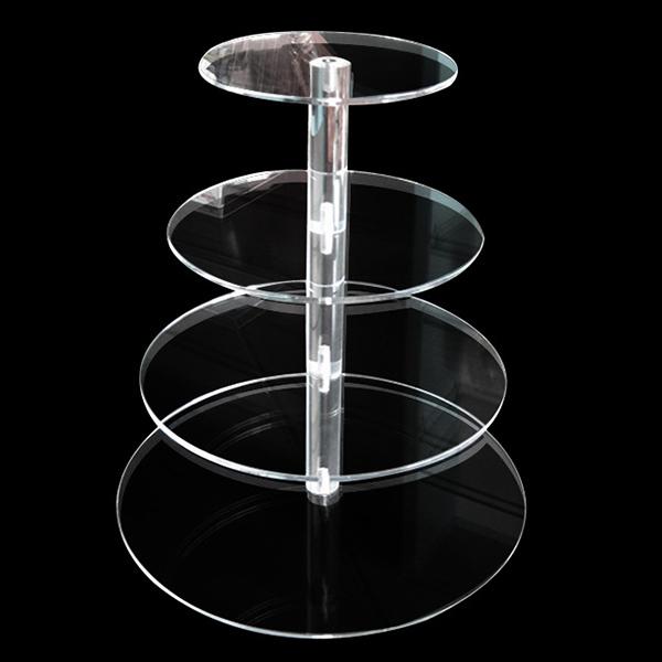 透明亞加力膠蛋糕展示架
