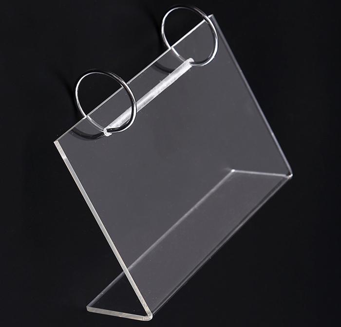 桌面L形亞加力台歷架