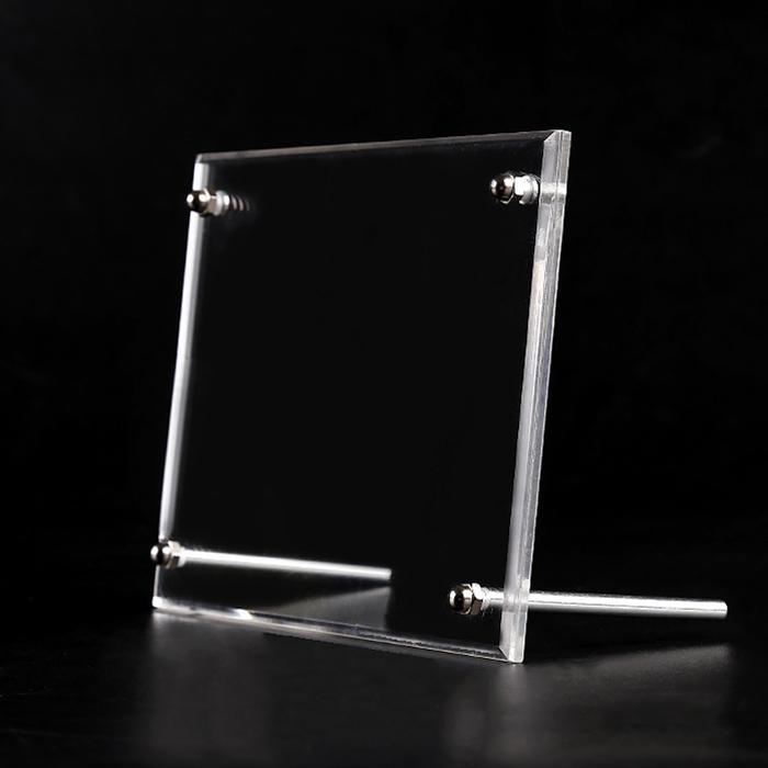 XH0205 座檯式廣告釘透明相架