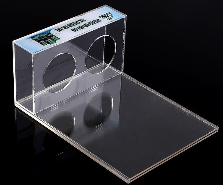 櫃枱可換宣傳單透明膠架